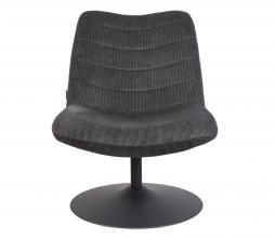 Afbeelding van product: Zuiver Bubba loungefauteuil velvet donkergrijs