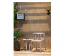 Afbeelding van product: WOOOD Bliss spijlenstoel (binnen-buiten) kunststof nude