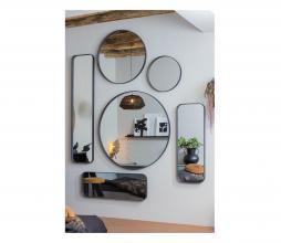 Afbeelding van product: WOOOD Doutzen spiegel metaal zwart, div. afmetingen 170x40 cm