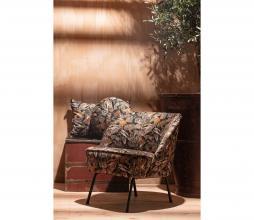 Afbeelding van product: BePureHome Vogue kussen ø45 cm velvet bouquet zwart