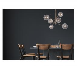 Afbeelding van product: Selected by Alara hanglamp Ø72cm metaal/rookglas goud