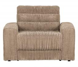 Afbeelding van product: BePureHome Date fauteuil grove ribstof travertin