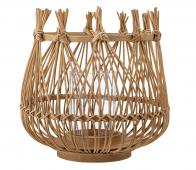 Selected by Nature lantaarn met glas bamboe naturel