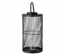 Afbeelding van product: Selected by Effie lantaarn met glas bamboe zwart