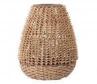 Selected by Nature lantaarn met glas palmbladeren bruin