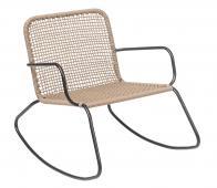 Selected by Mundo schommelstoel (binnen-buiten) metaal naturel/zwart
