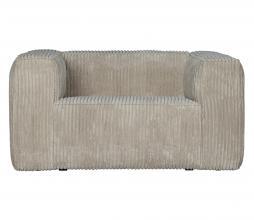 Afbeelding van product: WOOOD Exclusive Bean fauteuil grove ribstof naturel