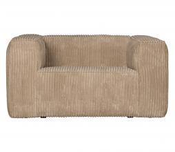 Afbeelding van product: WOOOD Exclusive Bean fauteuil grove ribstof travertin