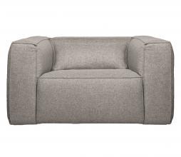 Afbeelding van product: WOOOD Exclusive Bean fauteuil gemêleerde stof lichtgrijs