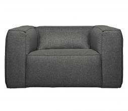 Afbeelding van product: WOOOD Exclusive Bean fauteuil gemêleerde stof middengrijs