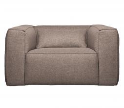 Afbeelding van product: WOOOD Exclusive Bean fauteuil gemêleerde stof taupe
