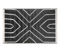 Zusss buitenkleed grafisch patroon antraciet 120x180 cm