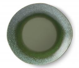 Afbeelding van product: HKliving Frost 70's dinerbord Ø 29 cm set van 2 keramiek groen