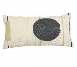 Afbeelding van product: Selected by Doros kussen 60x30 cm cremé/zwart