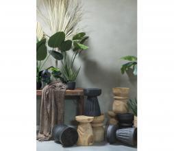 Afbeelding van product: WOOOD Borre kruk Ø28cm hout zwart