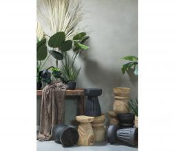 Afbeelding van product: WOOOD Bikkel kruk Ø28 cm hout zwart