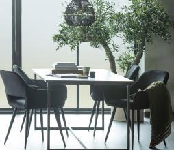 Afbeelding van product: WOOOD Jelle eetkamerstoel velvet zwart