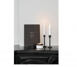 Afbeelding van product: Zusss pilaar kandelaar h15cm aluminium zwart