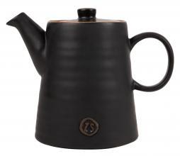 Afbeelding van product: Zusss theepot 1,25 liter aardewerk zwart