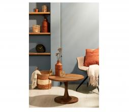 Afbeelding van product: Selected by Bicaba bijzettafel div. afmetingen hout bruin Ø60x36 cm