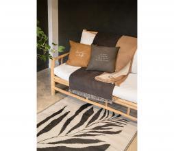 Afbeelding van product: Zusss plaid met franjes 130x170 cm katoen kaki