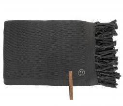 Afbeelding van product: Zusss plaid met franjes 130x170 cm katoen grafietgrijs