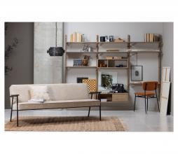 Afbeelding van product: WOOOD Exclusive Elizabeth 2,5 zits sofa structure velvet naturel