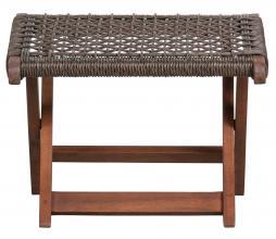 Afbeelding van product: WOOOD Lois voetenbank ruit (binnen-buiten) hout donkerbruin