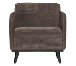 Afbeelding van product: BePureHome Statement fauteuil met arm brede rib taupe