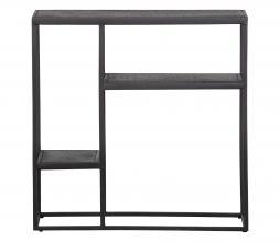 Afbeelding van product: WOOOD Febe vakkenkast 76x76x30 cm metaal zwart