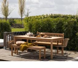 Afbeelding van product: WOOOD Jisse tuinbank teakhout naturel div. afmetingen 180 cm (3 personen)