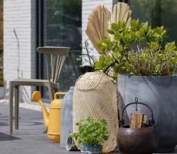 Afbeelding van product: House Doctor Gard plantenbak set van 2 (binnen-buiten) grijs