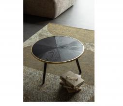 Afbeelding van product: WOOOD Binck bijzettafel Ø60cm hout zwart/antique brass