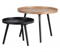 Afbeelding van product: WOOOD Mesa bijzettafel div. afmetingen hout zwart ø45 cm