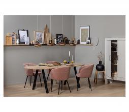Afbeelding van product: WOOOD Tablo tafelblad ovaal 220x90 cm eiken onbehandeld