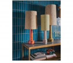 Afbeelding van product: HKliving Retro lampenvoet H 62 cm aardewerk mosterdgeel
