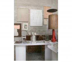 Afbeelding van product: HKliving Retro lampenvoet H 48 cm aardewerk rood/oranje