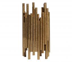 Afbeelding van product: BePureHome Uneven waxinehouder antique brass metaal 24cm