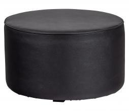 Afbeelding van product: WOOOD Exclusive Sara poef 36xØ60 cm kunstleer zwart