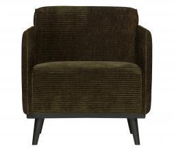 Afbeelding van product: BePureHome Statement fauteuil met arm brede rib warmgroen