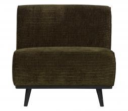 Afbeelding van product: BePureHome Statement fauteuil brede rib warmgroen