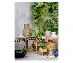 Afbeelding van product: Selected by Vida bankje (binnen-buiten) bamboo naturel/zwart