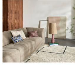 Afbeelding van product: HKliving Retro lampenvoet H 48 cm aardewerk paars