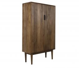 Afbeelding van product: Selected by Bitika opbergkast 100x40x170 cm hout donkerbruin