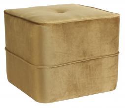 Afbeelding van product: Selected by Kiki poef velvet karamel