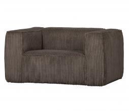 Afbeelding van product: WOOOD Exclusive Bean fauteuil grove ribstof mud