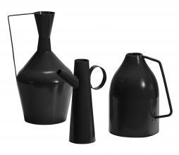 Afbeelding van product: BePureHome Tins vazen set van 3 metaal zwart