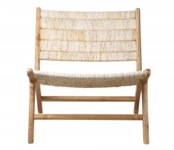 Afbeelding van product: HKliving Abaca loungefauteuil teak naturel