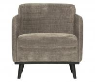BePureHome Statement fauteuil brede ribstof clay