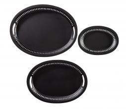 Afbeelding van product: BePureHome Dish set van 3 dienbladen metaal zwart